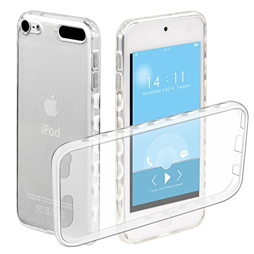 iPod Touch 6 Case,iPod Touch 5 Case, Ratesell Flexible Slim Shock Absorption Crystal Clear Soft Durable Rubber TPU Case Cover For iPod Touch 5 6th Generation_2015 Realeased ()