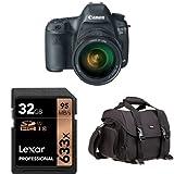 Canon EOS 5D Mark III 22.3 MP Full Frame CMOS Digital SLR Camera with EF 24-105mm f/4 L IS USM Lens + Memory Card and DSLR Bag Bundle