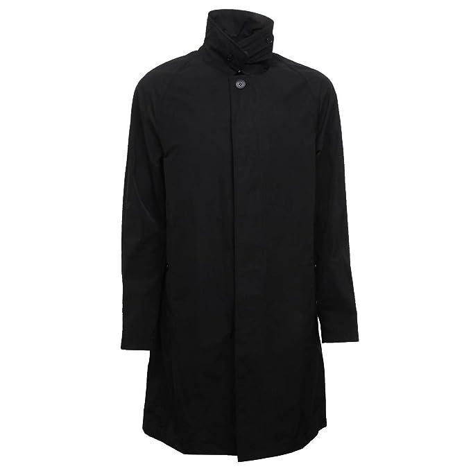 c168733820 Burberry F8286 Trench Uomo Hampstead Black Rainwear Jacket Man [50 ...