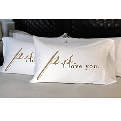 Faceplant Pillowcases Cool Faceplant Pillowcases Ps I Love You Amazonin Home Kitchen