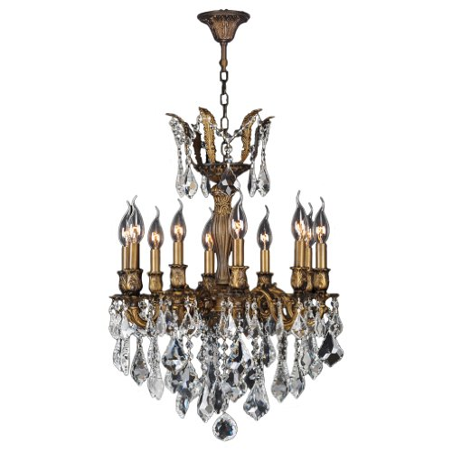 Worldwide Lighting W83335B19 Versailles 10 Light Antique Bronze Finish with (Versailles Collection Chandelier)