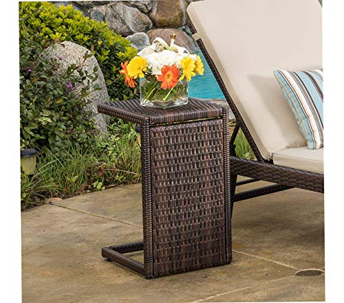 Austin Ottoman - Christоphеr Knight Hоmе Patio Outdoor Garden Premium Denise Austin Forrest Outdoor Wicker Accent Table