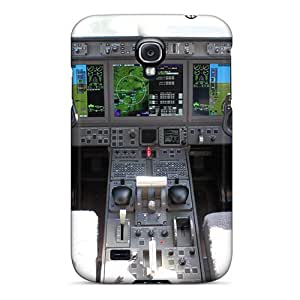 First-class Case Cover For Galaxy S4 Dual Protection Cover Lear Jet Cockpit