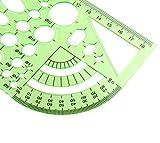 BronaGrand 2pcs Measuring Templates Geometric
