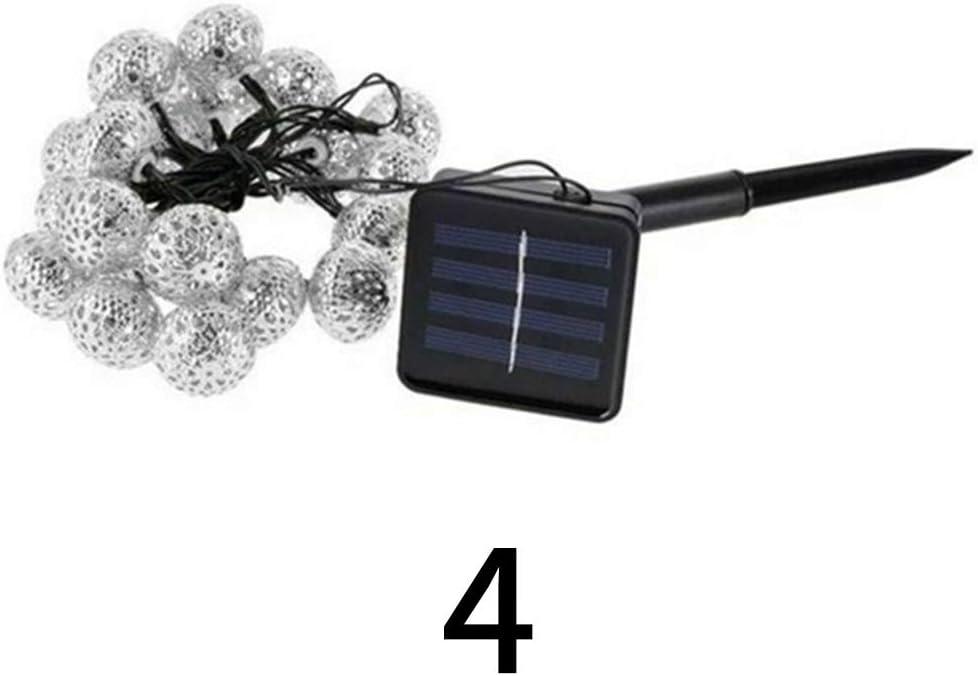 Luz Solar De Bola Marroquí - Cuerda Bola De Metal De Hierro Forjado Exterior Al Aire Libre Impermeable DecoracióN NavideñA Luces De Metal De Hadas