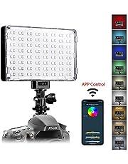 GVM Kamera Videoleuchte LED mit Batterie,RGB Dimmbare Videolihct APP Steuerung CRI97 3200K-5600K DSLR Kamera Licht für YouTube Canon,Nikon, Pentax,Sony, Samsung,Olympus Camcorder leuchte