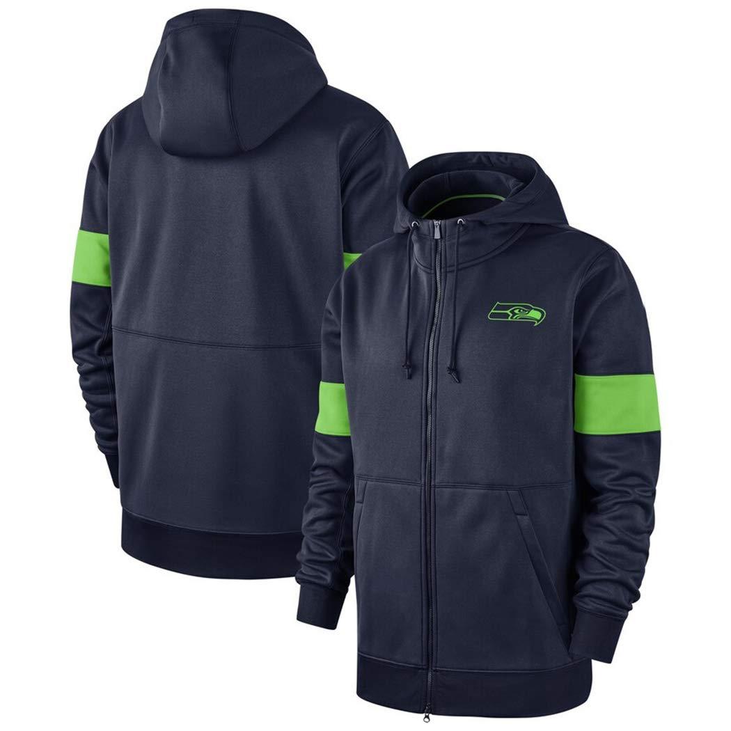 Color : Blue, Size : S for Seattle Seahawks M/änner Langarm Hoodie Tunnelzug Sweatshirt Freizeit Kapuzenpulli