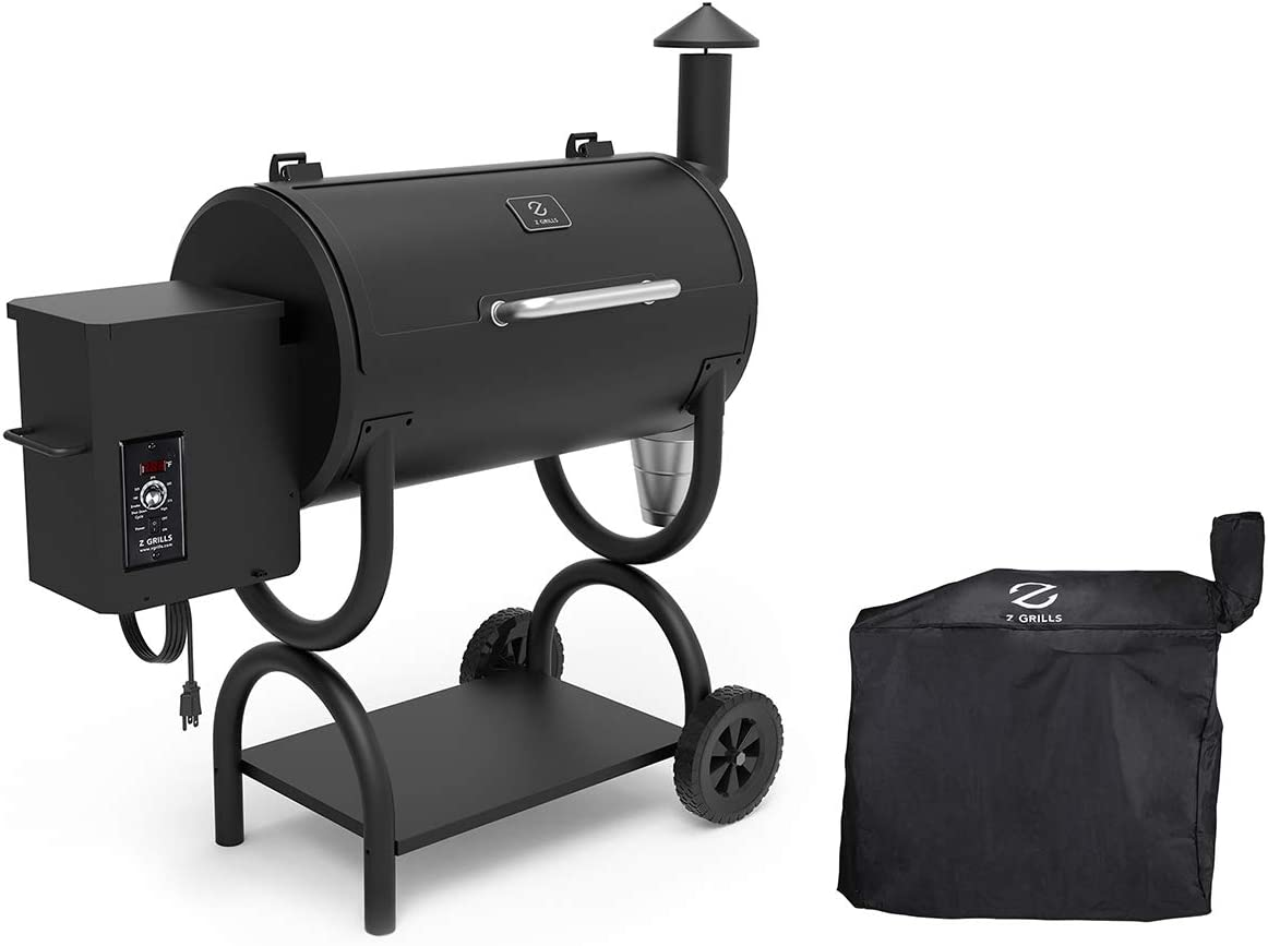 Z GRILLS Wood Pellet Grill BBQ Smoker 550B, 2020 Upgrade Grill Cover Pid Controller
