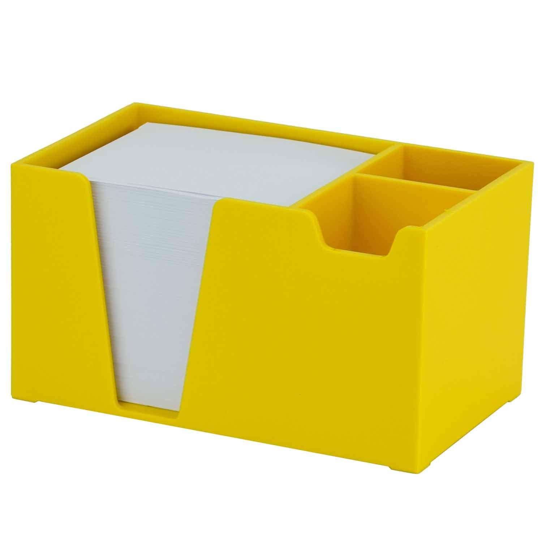 Color Amarillo Acrimet Organizador de Escritorio para L/ápiz Clips Papel Papel incluido