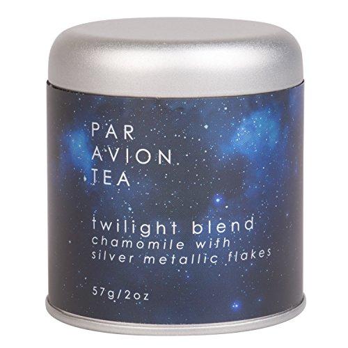 Par Avion Tea ,  Glitter Tea - Twilight Blend - Small Batch Loose Leaf Chamomile Tea With Edible Silver Metallic Flakes - 2 oz  (Tea Magical)