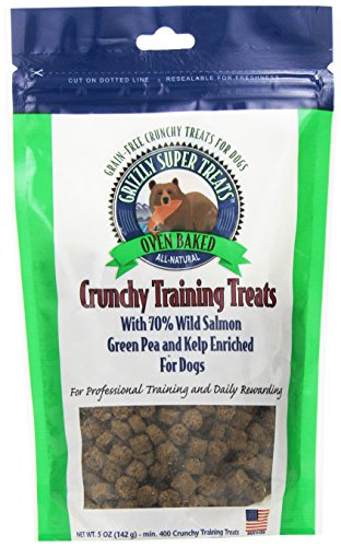 Grizzly Pet Products Crunchy Training Treats Green Pea and (Kelp Treats)