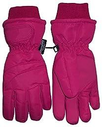 N\'Ice Caps Kids Bulky Thinsulate and Waterproof Ski Glove With Ridges (6-8yrs, Fuchsia)