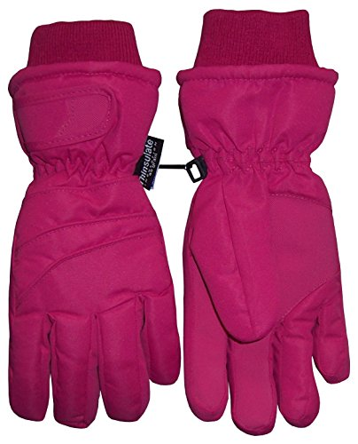 N'Ice Caps Adults Unisex Thinsulate and Waterproof Bulky Winter Ski Glove with Ridges