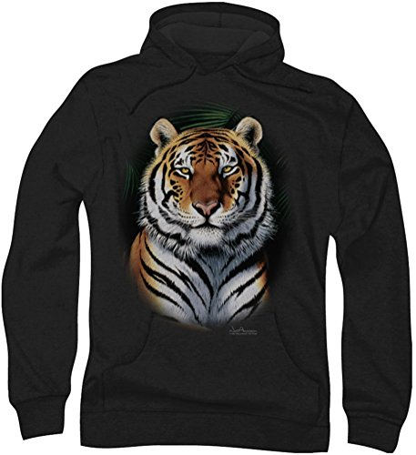 Wildlife - Mens Jungle Fire Hoodie, XXX-Large, Black