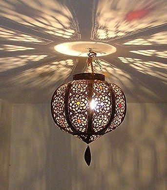 En Ciselé Lampe Marocain Lustre Plafonnier Boule Métal 30cm YDHE9IW2