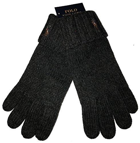 - Polo Ralph Lauren Men's 100% Merino Wool Gloves One Size Dark Grey