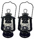 Shop4Omni Black Hanging Hurricane Lantern Wedding Light Table Centerpiece Lamp - 8 Inches (2)