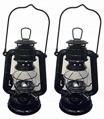 [Black Hanging Hurricane Lantern Wedding Light Table Centerpiece Lamp - 8 Inches (2)] (Black Hurricane)