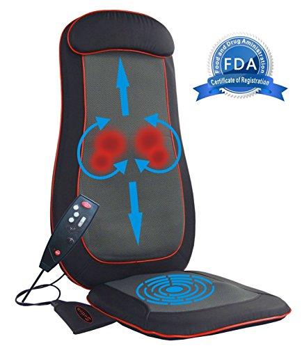 sotion shiatsu full back massage seat cushion massager pad with heat