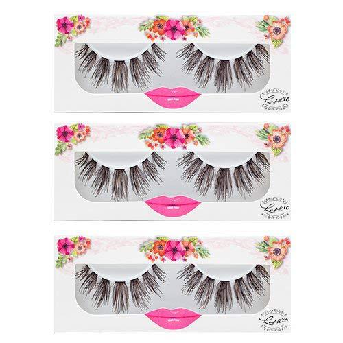 LashXO Lashes - Angel Amour 6 packs_ Premium Quality False Eyelashes Darkbrown Human Hair- Premium lashes compared to popular name brands
