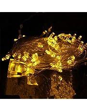 مصابيح زينة شجرة عيد الميلاد مع 100 لمبة ضوء ال اي دي اصفر 220 فولت اوروبي، لحفلات الكريسمس وتزيين الغرف