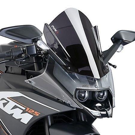 - 15-18 KTM RC390: Puig Racing Windscreen (3mm) (Dark Smoke)
