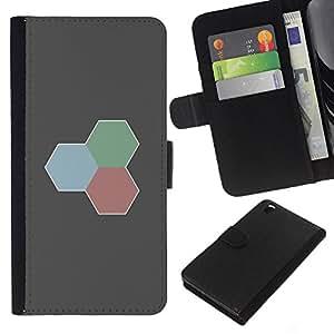 LECELL--Cuero de la tarjeta la carpeta del tirón Smartphone Slots Protección Holder For HTC DESIRE 816 -- Rojo Verde Azul --