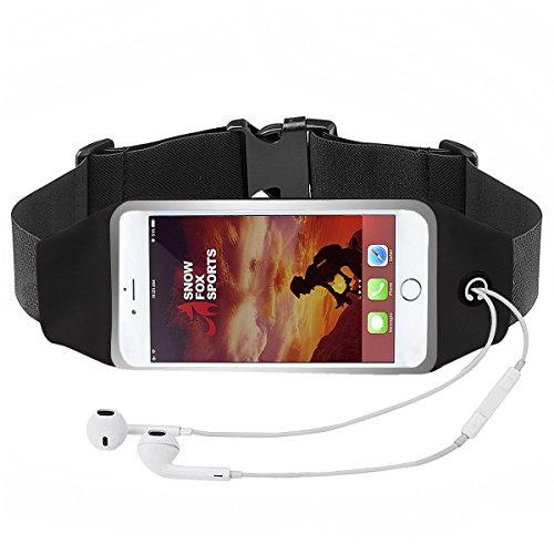 Men Running Belt Bag, Fitness Workout Belt Touch Screen Sweatproof Running Waist Pack for Cellphone 3.5