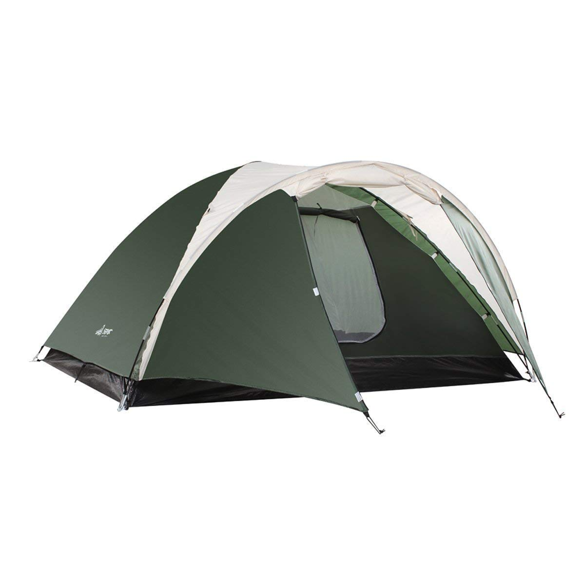 [SEMOO] [SEMOO Camping Tent 3-4 Person 4-Season Double Layer Lightweight Traveling Tent with Carry Bag] (並行輸入品) One Size army green B07JCMVSR8