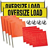 Vulcan Stretch Cord Oversize Load Banners, Flags, and Magnets Kit