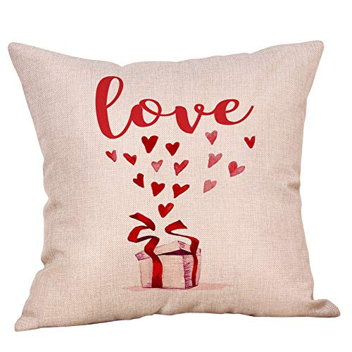 callm Quote Kiss Me  Pillows Throw Pillow Cover Valentine's Day Pillow Case 18 x 18 inch Cotton Linen Square Cushion Home Decorative Cover Sofa Bed Red -