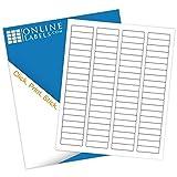 Online Labels - Address Labels - 1.75'' x 0.5'' - Pack of 8,000 Labels, 100 Sheets - Inkjet/Laser Printer