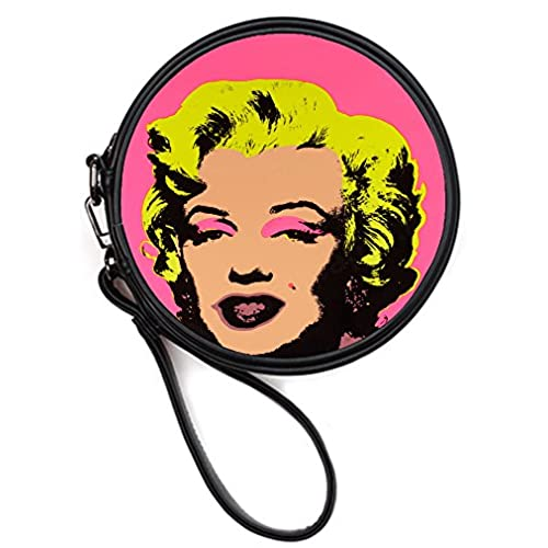 8fd79298252 new Fashionable Leather Female Round Makeup Bag Cosmetis Case Handbags with Marilyn  Monroe Print