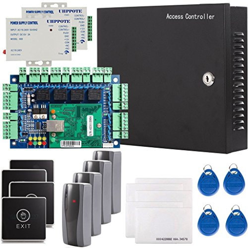 UHPPOTE Security Network RFID Access Control Board Kit Metal AC110V Power Box For 4 (Access Control)