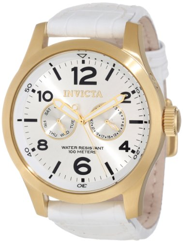 Invicta Men's 12174 Specialty Silver Tone Dial Watch (Gold Watch White Mens And Invicta)