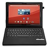 IVSO Sony Xperia Z4 Tablet (10.1-Inch) Bluetooth Keyboard Portfolio Case - DETACHABLE Bluetooth Keyboard Stand Case / Cover for Sony Xperia Z4 Tablet