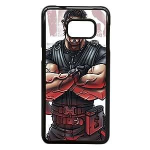 Funda Samsung Galaxy S6 Edge Plus, caja del teléfono celular Nota 5 Edge Funda Negro-Rambo Sylvester Stallone A9R3AW