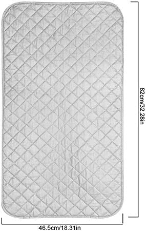 Lazmin Magnetic Ironing Mat, Portable Foldable Anti-Slip Magnetic Ironing Pad Mat Blanket for Table Top & Travelling for travelling or small apartments