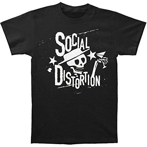 Social Distortion Men's Distressed Stars T-shirt Black