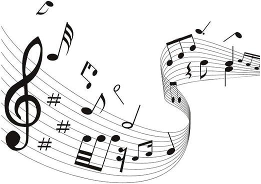 Pegatina de pared Musical Wave Vinilo DIY Notas musicales Quaver ...