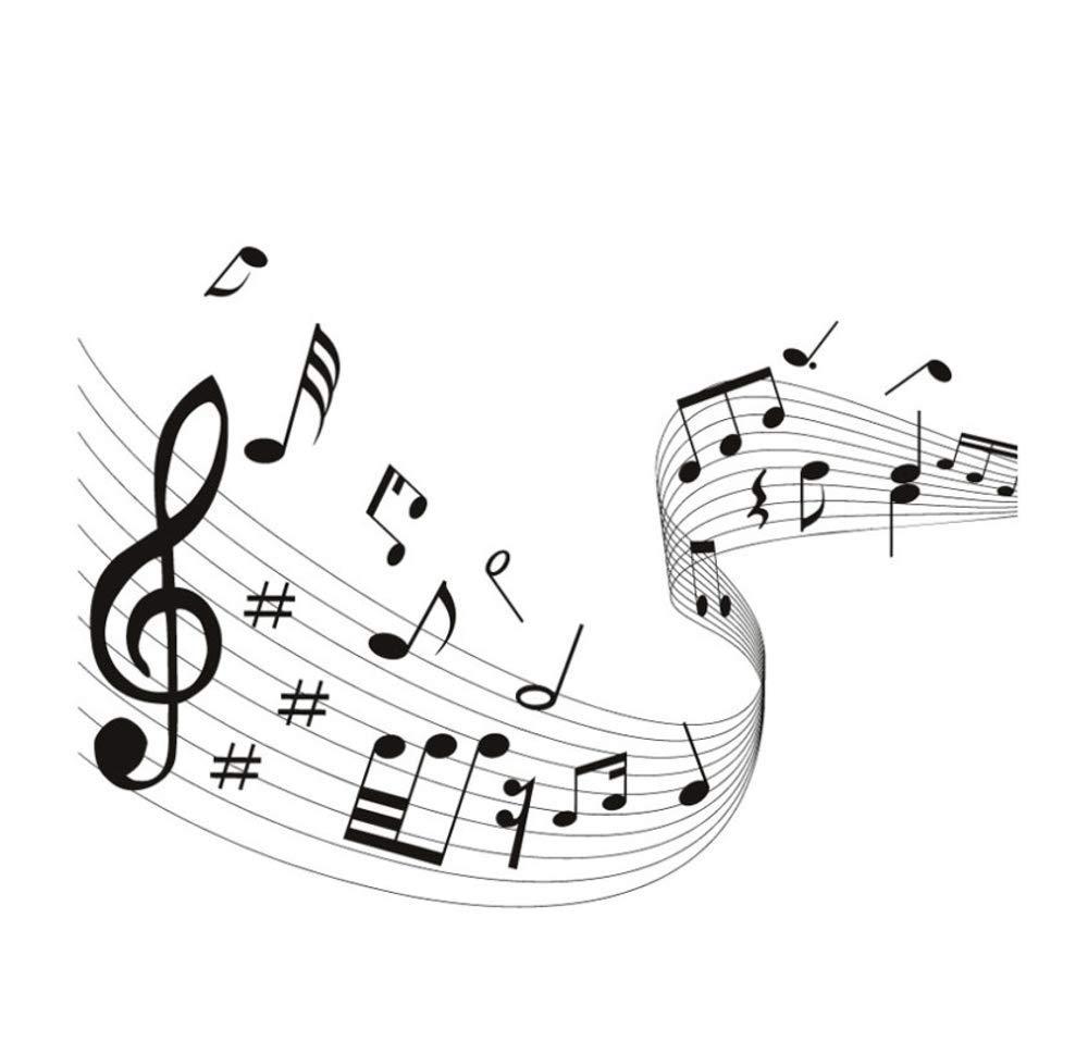 LAOHUQT Pegatinas De Pared Musical Wave Vinilo Diy Notas Musicales ...
