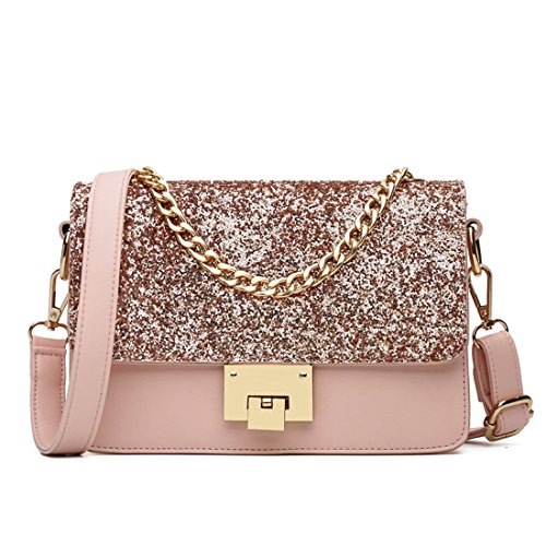 Pink Purse Chain Crossbody Bag Women Shoulder Bag Bags Formal for Black Powder Clutch Evening Evening qwvaZx