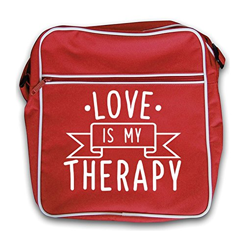 Retro Bag Black My Flight Is Love Red Therapy wH6y4