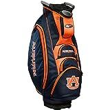Team Golf NCAA Auburn University Tigers Victory Golf Cart Bag, 10-way Top with Integrated Dual Handle & External Putter Well, Cooler Pocket, Padded Strap, Umbrella Holder & Removable Rain Hood