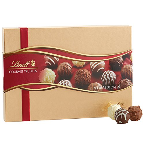 Lindt Lindor Assorted Chocolate Gourmet Truffles  Gift Box  Kosher  7 3 Ounce