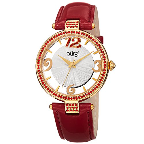 Gold Tone Floating Crystal Watch - 5