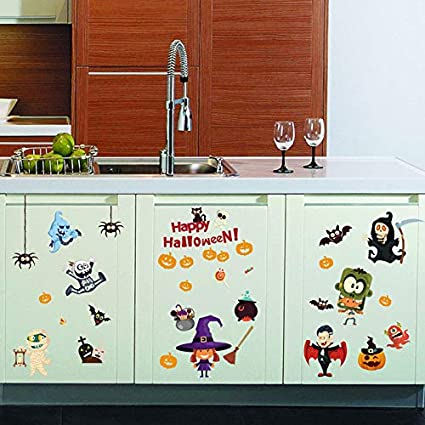 Amazon Com Xyl Home Holy Day Free Stickers Haunted House Elf Wall