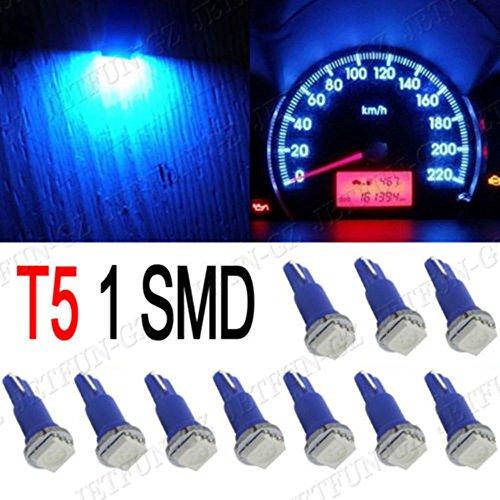 CLKJDZ 10X Blue T5 5050 1SMD Wedge Car Dashboard LED Light Bulbs 2721 74 73 70 17 18 37