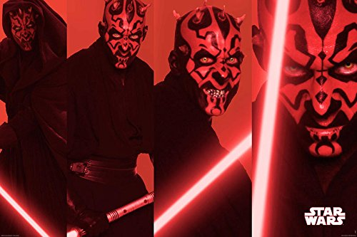 Star Wars: Episode I - The Phantom Menace - Movie Poster (Darth Maul Collage) (Size: 36