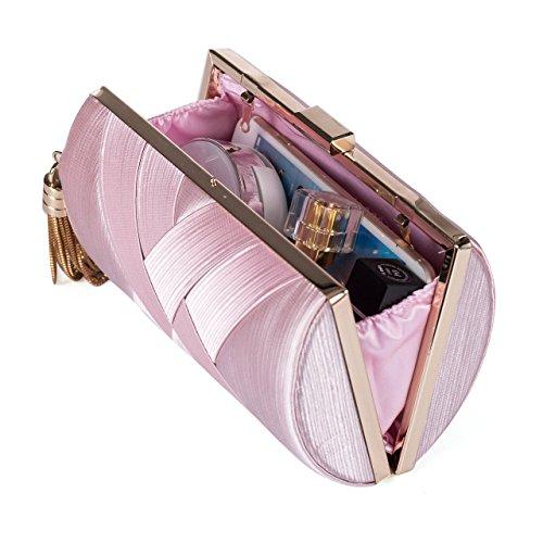 le sac soirée sac élégant femmes tassel sac pochette les une le de bourse mariage soirée crossbody partie pour bal rose 5ZOwgIq